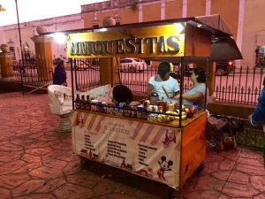 Marquesitas - my favourite Yucatan street food: crispy crepes with cheese and another filling of your choice. I recommend dulce de leche!