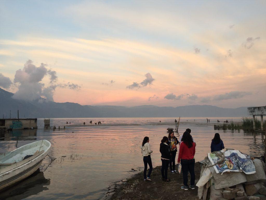 Sunset at Lago de Atitlan.