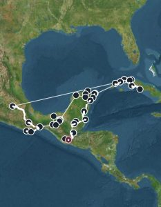 map of central america made with one of the most useful travel apps