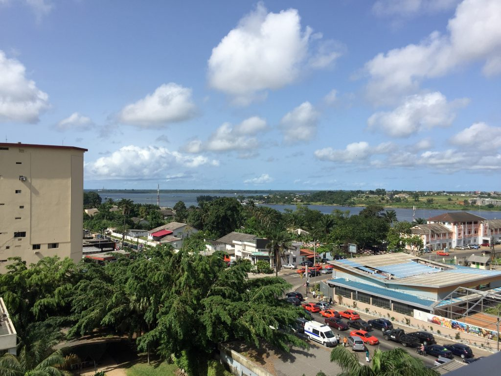view from the balcony at plateau in abidjan
